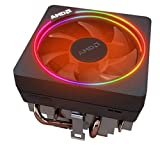AMD Wraith Prism RGB LED Lighting Socket AM4 4-Pin Connector CPU Cooler with Copper Core Base & Aluminum Heatsink & 4.13-Inch Fan with Pre-Applied Thermal Paste for Desktop PC Computer (TS45)