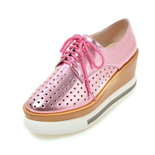 Zapatos Mujer Primavera/Cabeza hueca correa zapatos de plataforma/circular con zapatos casuales suela gruesa B