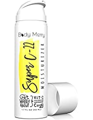 Super C-22 Moisturizer- Vitamin C Cream 22% w Hyaluronic Acid 20% - 2-in-1 Serum + Anti-Aging Lotion for Wrinkles & Acne - Best Lotion for Day or Night Use - Amped w CoQ10 + Niacinamide (1-Pack)