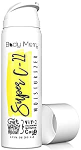 Body Merry Super C-22 Moisturizer: Anti aging facial cream w natural Hyaluronic Acid + Vitamin C + Niacinamide to combat dark spots, wrinkles & acne - Perfect for face / eye skincare for men & women