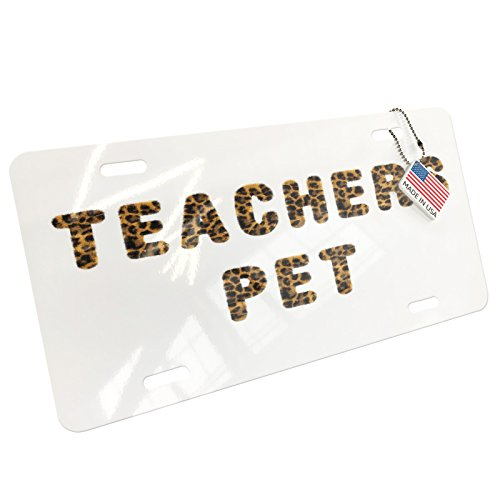 NEONBLOND Teachers Pet Cheetah Cat Animal Print Aluminum License Plate