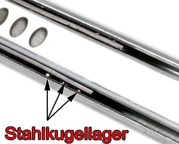 246 mm L 2 Schubladenschienen EDELSTAHL Teilauszug Rollenauszug Teleskopschiene Kugelf/ührung Schubladenauszug H 17