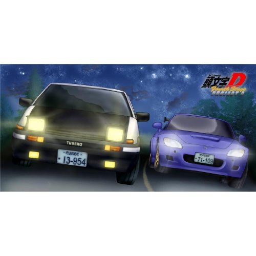 Initial D Poster by Silk Printing # Size about (70cm x 35cm, 28inch x 14inch) # Unique Gift # 39AC84 (Wall Scroll Initial D)