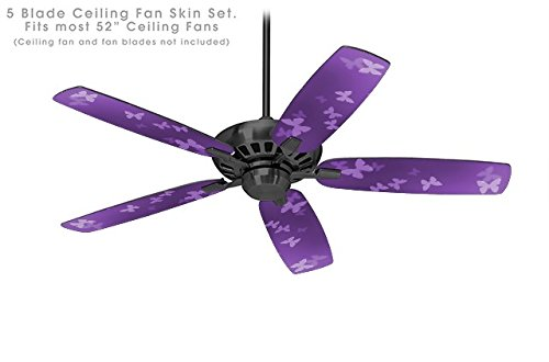 Bokeh Butterflies Purple - Ceiling Fan Skin Kit fits most 52