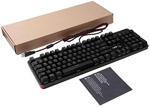 Teclado mecánico RGB LESHP 105 Teclas con Cable USB y ...