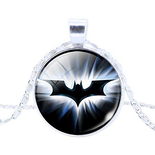 Batman Dark Knight Glass Dome Pendant Necklace ~ Fashion Jewelry