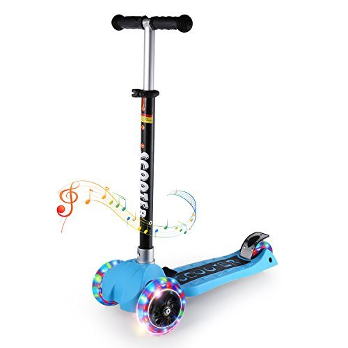 Kick Scooters for Kids, OUTAD Super-Tough 3 Wheel Kids Stunt Scooter with Adjustable Aluminum Alloy Handle T-Bar, New 2017 Designs (Best Stunt Scooter For 12 Year Old)