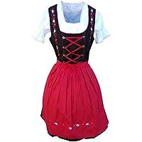 Dirndl World 3pcs. Bavarian Mini Dirndl Dress f. Oktoberfest, Sizes: 4-22, Di06
