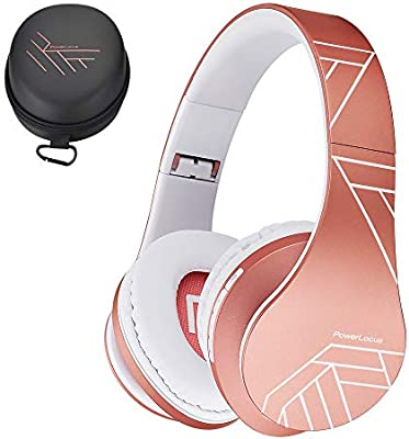 Black//Blue iPad Wired Headsets Noise Cancelling with Built-in Microphone for iPhone LG PowerLocus Wireless Bluetooth Over-Ear Stereo Foldable Headphones Samsung