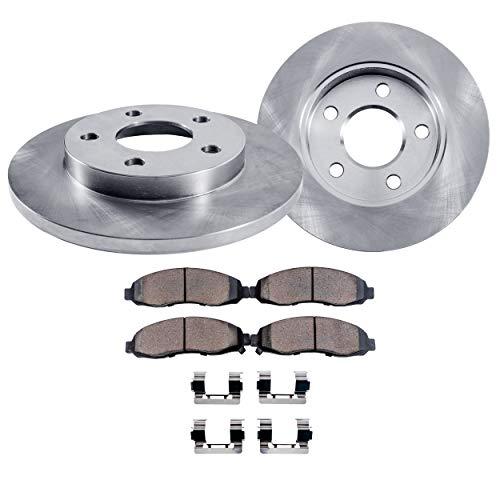 Detroit Axle - Rear Disc Brake Rotors & Ceramic Pads for 1995-2003 Ford Windstar 3.0L 3.8L