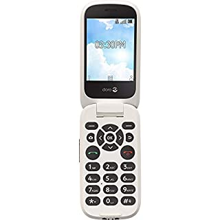 Doro Flip Easy-to-Use Cell Phone for Seniors by Tracfone