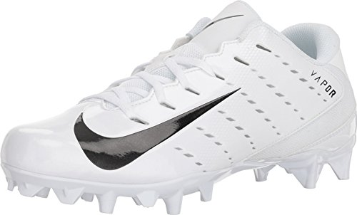 Nike Men's Vapor Untouchable Varsity 3 TD Football Cleat (11.5 M US, White/Black/Metallic Silver)