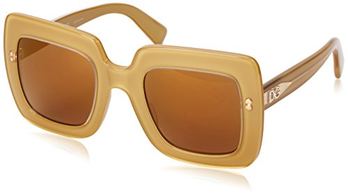 D&G Dolce & Gabbana Womens 0DG4263 Square Sunglasses, Top Gold On Gold, 50 - Sunglasses Gold D&g
