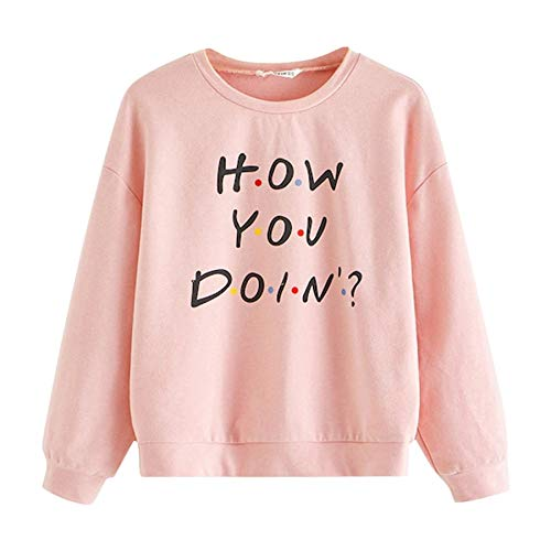 Teen Girls Long Sleeve Sweatshirt, Womens Pullover Hoodie Crop Tops Letter Print Jumper Tracksuit Blouse Sportswear – The Super Cheap