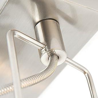 1 x 50 Watt//Indoor Lighting//Lights//Lamps//Living Room//Kitche Suplux Round//Square GU10 Max QAZQA Industrial Industrial Spotlight Ceiling Steel//Nickel Matt//Satin rotatable and tiltable