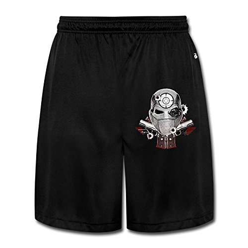 VOLTE Suicide Film Squad Task Comic Force X Character Logo Breathable Athletic Sports Men's Performance Shorts Sweatpants XL (Jordan Playground Poster)