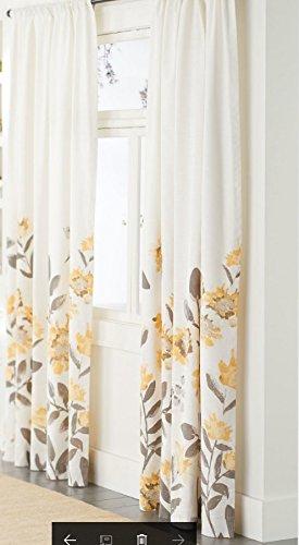 - Climbing Floral Window Curtain Panel - Threshold 52