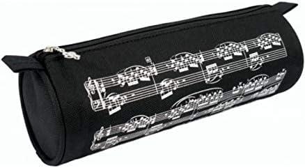 ESTUCHE MUSICAL ESCOLAR REDONDO FONDO NEGRO CON PARTITURAS EN BLANCO 22 CM LARGO X 8 CM DIAMETRO: Amazon.es: Instrumentos musicales