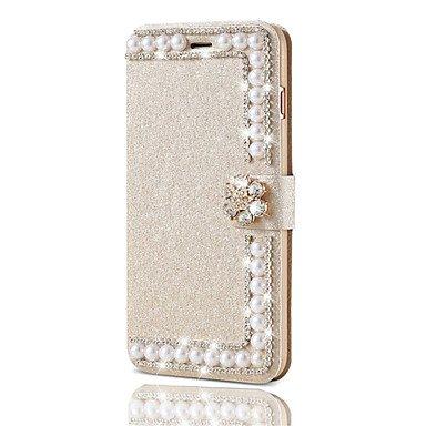 Fundas y estuches para teléfonos móviles, Caja de cuero de lujo para el iphone 7 más 7 cáscaras brillantes del diamante del brillo de la cubierta del tirón para el iphone 6 más 6s ( Color : Rosado , M Verde claro