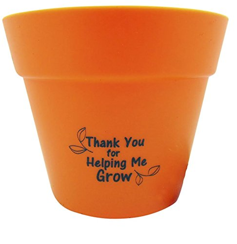 Teacher Gift Indoor Basil Plant Pot Set Thank You For Helping Me (Thank You For Helping Me Grow)