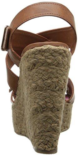 887865340119 - Madden Girl Women's Stackful Wedge Sandal, Cognac Paris, 7 M US carousel main 1