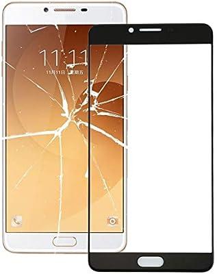 Lente de Cristal Externa para Samsung Galaxy C9 Pro / C900 Pantalla Frontal Lente de Cristal Exterior (Color : Blanco): Amazon.es: Electrónica