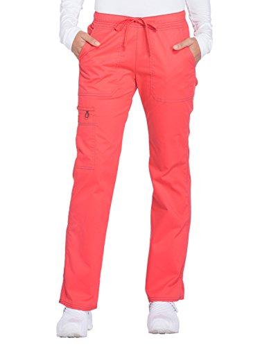 Dickies Gen Flex Women's Low Rise Straight Leg Scrub Pant X-Small Petite Hibiscus ()