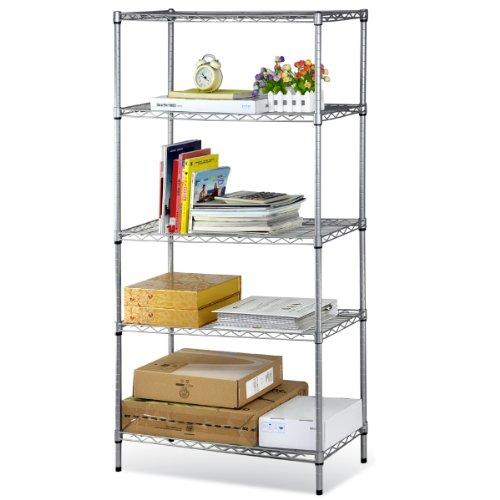 sodial r 5 tier stainless steel chrome kitchen storage