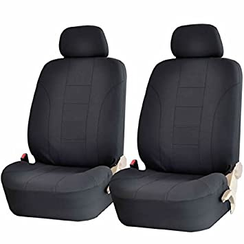 Enjoyable Uaa Inc Universal Set Of Front Low Back Car Seat Covers Solid Black Uwap Interior Chair Design Uwaporg