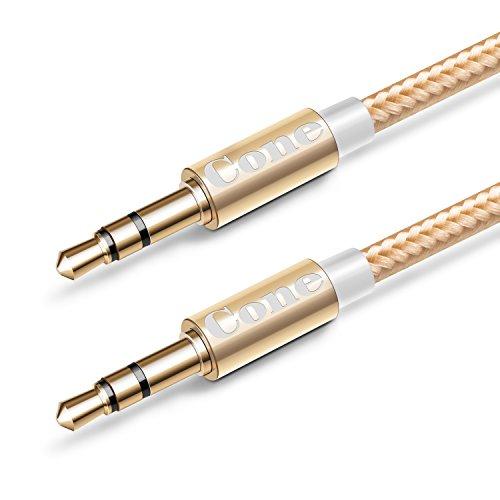 Cone 3.3 Ft Nylon Audio Cable ,3.5mm Aux Cord ,