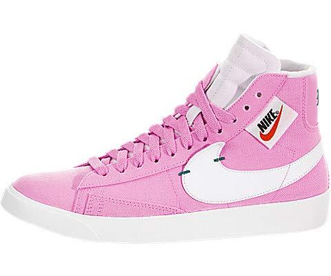 Nike Blazer Mid Rebel Women's Shoes Psychic Pink/Summit White bq4022-602 (7 M US) (Nike Leather Blazer)
