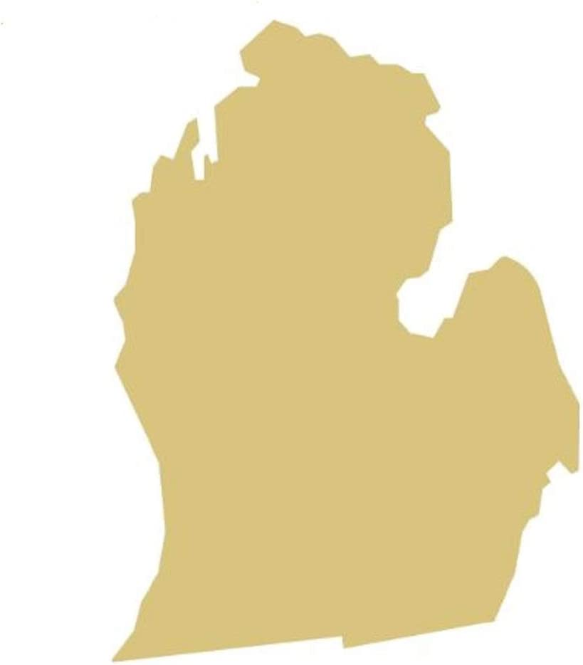 """Michigan Cutout Unfinished Wood Home Decor Everyday Mitten Door Hanger MDF Shape Canvas Style 2 (22"""")"""