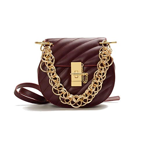 Femme AJLBT Winered Mode Sac à Sac Cochon Rhombique Datant Simple Sac Chaîne Shopping qFxrF5Aw