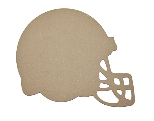 Football Helmet Shape Unfinished MDF Cut Out MFBH09 ()