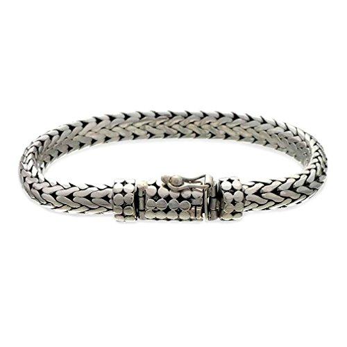 Silver Artisan Sterling Bracelet Link (NOVICA Men's .925 Sterling Silver Cuff Bracelet with Box Clasp, 'Dragon')