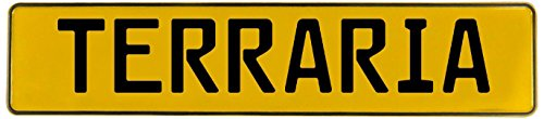 Vintage Parts 549414 Terraria Yellow Stamped Street Sign Mancave Wall Art]()