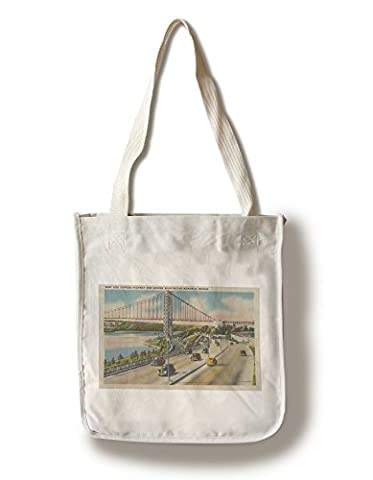 New York, NY - West Side Express Hwy, Geo. Wash Bridge (100% Cotton Tote Bag - Reusable) (Geo Press)