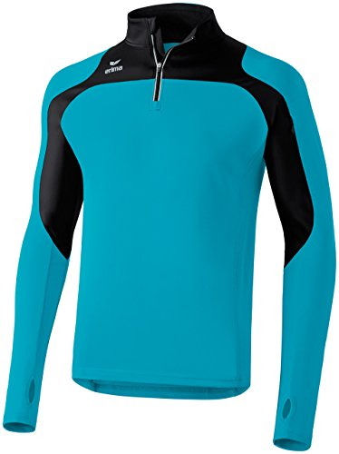 De Course Longues shirt Pétrole À Turquoise noir Manches Race Pour Line Adultes T Erima CXqIt