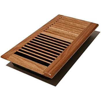 Unfinished oak wall floor drop in air return register for Wood floor registers 6 x 14