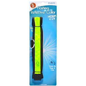 SE - Dog Collar - Red LED Illuminated, Large, 22in.-26in. - PS403L