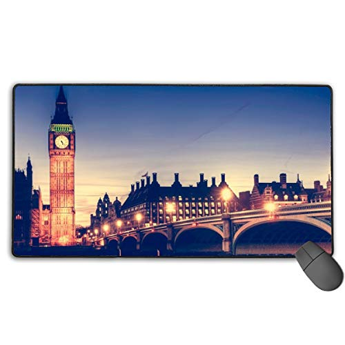 GGlooking Mousemat Big Ben Mouse Pad Gaming Mat Computer Mousepad Large Non-Slip Keyboard Desk Accessories,Office & School Supplies -