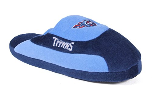 Tennessee Titans Shoe (TTI07-3 - Tennessee Titans - Large - Happy Feet & Comfy Feet NFL Low Pro Slippers)