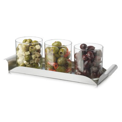 (Libbey Modern Bar Garnish and Condiment Tray Set - 4 Pieces)