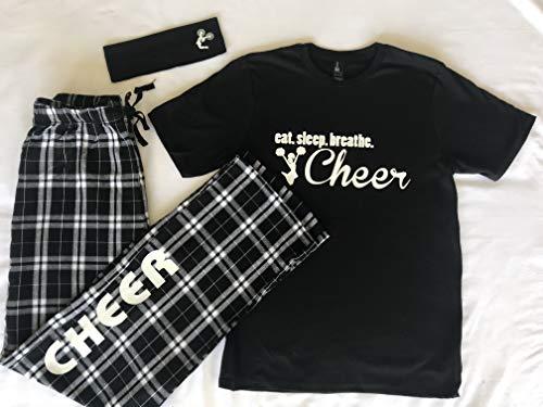 - Eat. Sleep. Breathe. Tee and Cheer Pajama Pant Gift Set