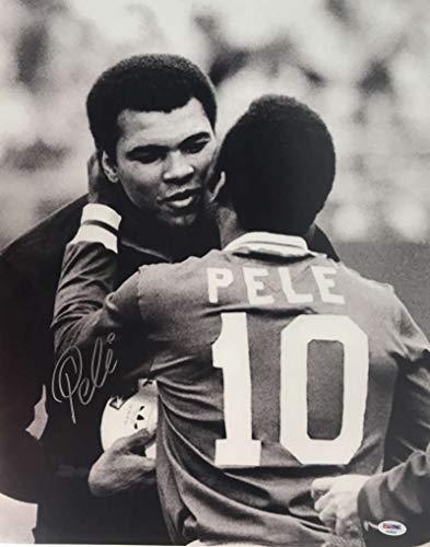 Pele Muhammad Ali Signed Autographed 16x20 Photograph PSA/DNA