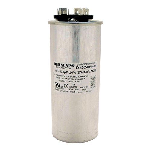 Duracap USA Run Capacitor 40+5 UF 40/5 MFD 370 VAC / 440 ...