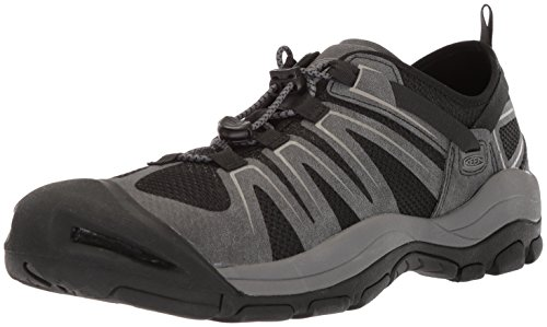KEEN Men's McKenzie II-M Hiking Shoe, Black/Magnet, 12 M (Mesh Mens Sandals)
