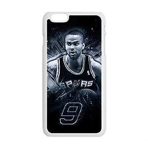EROYI Tony Parker Spurs San Antonio Basketball NBA White Phone Case for Iphone6 plus