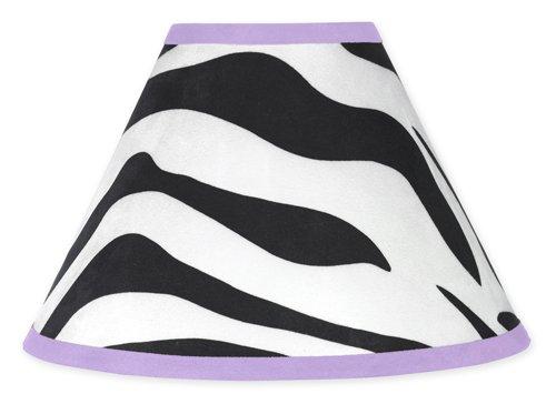(Purple Funky Zebra Lamp Shade by Sweet Jojo Designs)