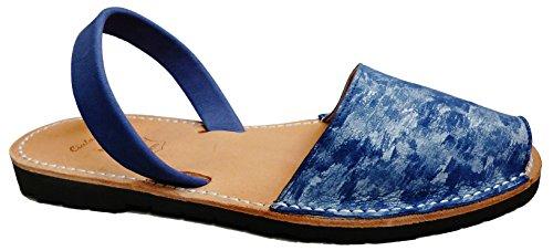 Menorca Authentic Menorcan sandals FANTASIA, various colors, Avarcas Menorquínas abarcas, albarcas. Azul aguas plata